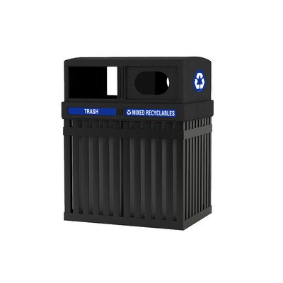 ArchTec Series 50 Gallon Parkview Multi Compartment Recycling Bin by ArchTec