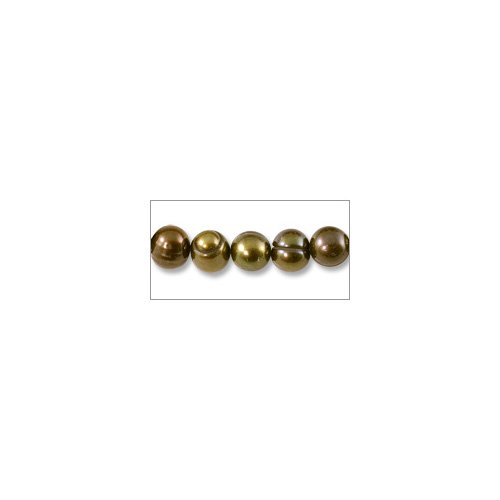 Bronze Potato Pearls - Freshwater Potato Pearl Dark Bronze Mix 7-8mm (16