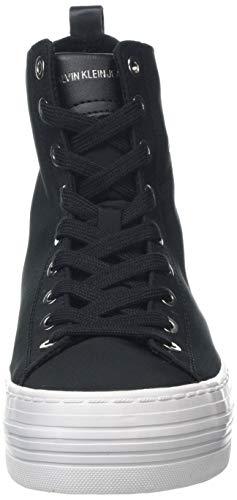 Sneakers alte Klein Calvin 000 nero Jeans Nero donna Nylon Zazah BqaIpxIw4