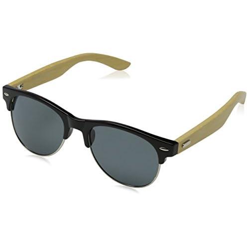 8aa79bb8e3 Eyelevel Blake, Gafas de Sol para Hombre, Negro (Black/Bamboo/Black ...