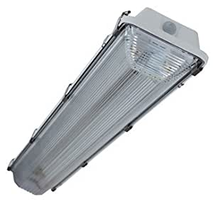 Amazon.com: HH 2 Lamp 4ft T8 MoistureResistant Fluorescent Light Fixture: Kitchen  Dining