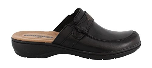CLARKS Womens Leisa Dream Clog (7.5 B(M) US, Black Leather) by CLARKS