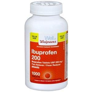 Walgreens Ibuprofen 200 mg Tablets Value Size, 1000 ea