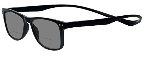 Astoria Clear Crystal (Magz Astoria Bi-Focal Reading Sunglasses w/Magnetic Snap It Design)