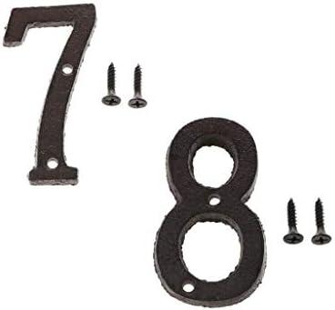 COMFORT INNOVATION 7 8 Wrought Iron House Address Numberswith Screws Black / COMFORT INNOVATION 7 8 Wrought Iron House Address Numberswith Screws Black