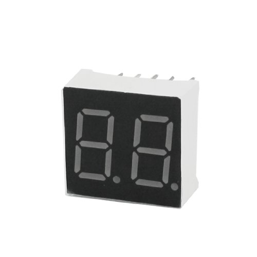 DIP 2-Digit 7 Segment Display Red LED Common Anode 10-Pin - 7 Anode Segment Display