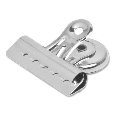 (Bostonamp;reg; Bulldog Magnetic Clips, Steel, 2-1/4amp;quot;w, Nickel-Plated, 12 Per Box)