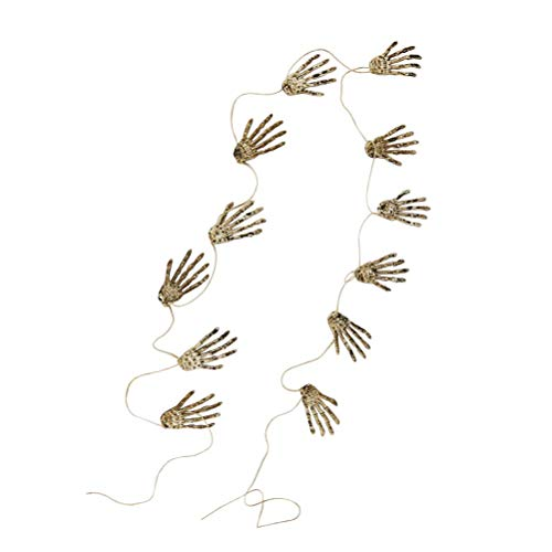12pcs Halloween Skeleton Claws Skeleton Hands Halloween Funny Ghost Claw Cosplay Props Party Supplies]()