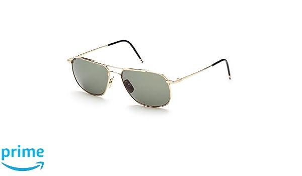 6b73dddc936c THOM BROWNE TB 103 A-GLD 12K Gold w  G15-AR Sunglasses at Amazon Men s  Clothing store