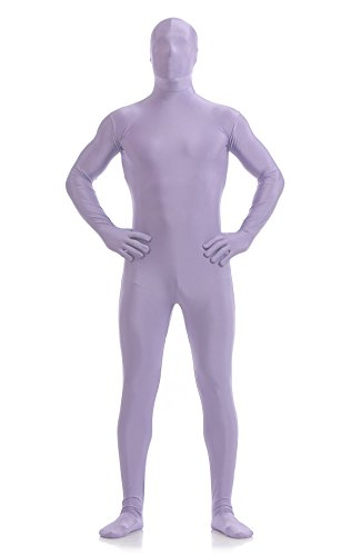 cafd80f896a Galleon - Ensnovo Mens Full Body Tights Suit Costumes Lycra Spandex Zentai  Bodysuit LightPurple