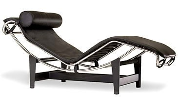 Fine Mod LC4 Black Chaise Lounge Chair