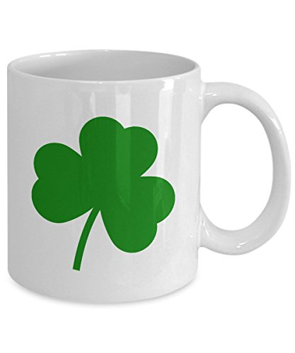ST. PATRICK'S DAY Mug, Green Clover, Lucky Shamrock, Saint Patrick Patty's Day, Irish, Holiday Gift, Coffee Mug, Ceramic Mug