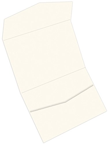 Landscape Pocket Invitations - Colors Matt Wedding Cream, 25 Pack