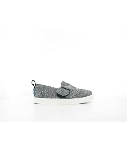 f58856b30f79 Galleon - TOMS Kids Unisex Avalon Slip-On (Infant Toddler Little Kid) Black  Slub Chambray Loafer