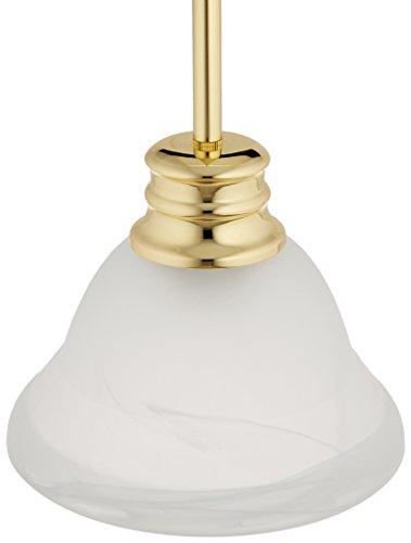 Nuvo Lighting 60/367 One Light Mini Pendant, Polished Brass/Alabaster Glass