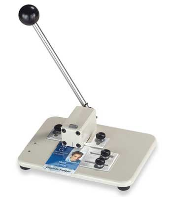 Brady People ID 3943-1510 Medium Manual Table Top Slot Punch with Adjustable Guides, 9/16