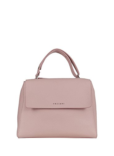 Orciani B02006softpesco Woman Pink Leather Shoulder Bag