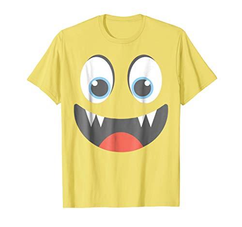 Halloween Emoticon Vampire Face Group Costume Shirt ()