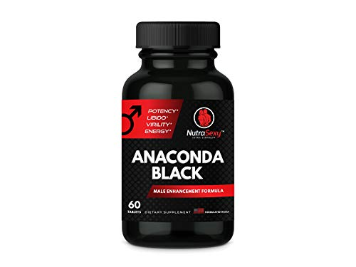 Male Enhancement Pill Nutra Sexy Anaconda Black, Formulated with Ginseng, L-Arginine, and Zinc 60 Caps