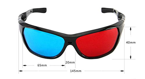e236ed3d1 Fashion Black Frame Red Blue 3D Glasses For Dimensional Anaglyph Movie Game