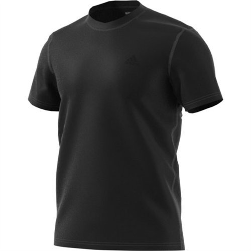- adidas Men's Training Ultimate Short Sleeve Tee, Black Heather, X-Large