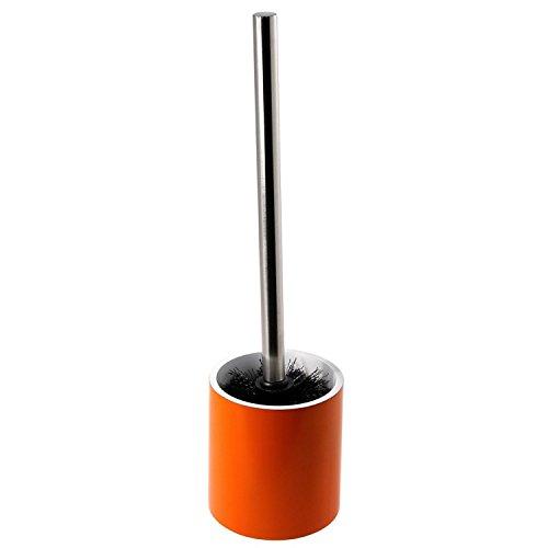 Gedy Yucca Steel Free Standing Toilet Brush Holder, Orange