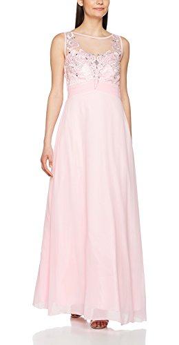 Quiz Embellished, Vestido de Fiesta para Mujer Rosa