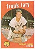 1959 Topps Regular (Baseball) Card# 393 Frank Lary of the Detroit Tigers VG Condition
