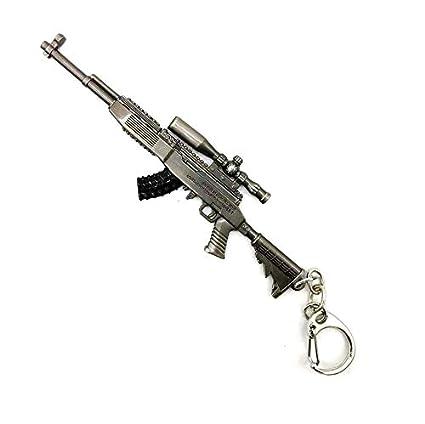 Arma pistola llavero 3D pistola de metal: Amazon.es: Oficina ...