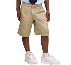 Regular and Husky Sizes French Toast Uniforms Boys Adjustable Waist Pleated Short