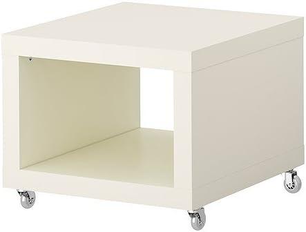 IKEA FALTA - Mesa auxiliar con ruedas, blanco - 55x55 cm: Amazon ...