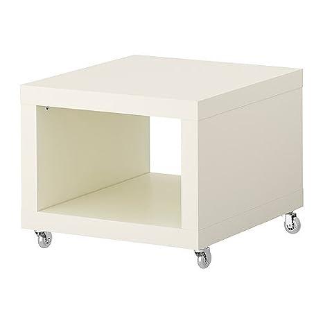 IKEA FALTA - Mesa auxiliar con ruedas, blanco - 55x55 cm: Amazon.es: Hogar