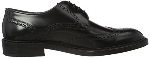 Lottusse L6724, Zapatos de Cordones Brogue para Hombre Negro - Schwarz (JOCKER PELAR NEGRO)
