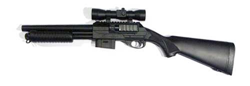 BBTac Airsoft Shotgun M47, Pump Action Spring Loaded, with Red Dot Sight and Easy to reload with Clip