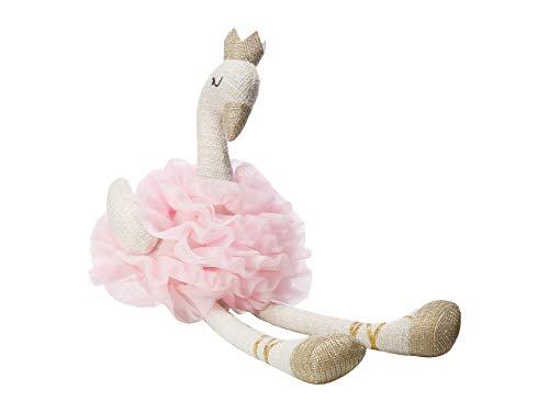 Mud Pie Swan Plush Toy Pink One Size