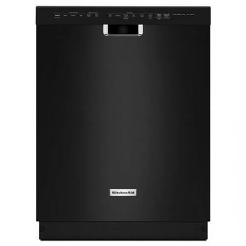 """KitchenAid 24"""" Tall Tub Built-In Dishwasher Black KDFE204EBL"""