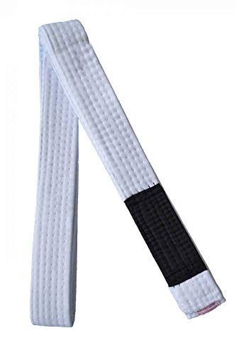 Faixa Jiu Jitsu Ponta Preta Keiko Sports Unissex A0 (2,5m) Branco
