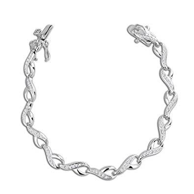 Peora Valentine Sterling Silver Bracelet PB 1088 Bracelets at amazon