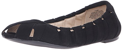 Nine West Women's Munchkin Suede Ballet Flat, Black Suede, 38 B(M) EU/6 B(M) UK