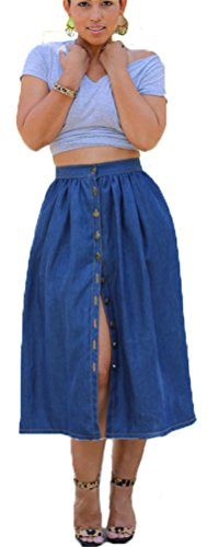 Eleganlife Women's A-Line Split Button P - Wear Jean Skirt Shopping Results