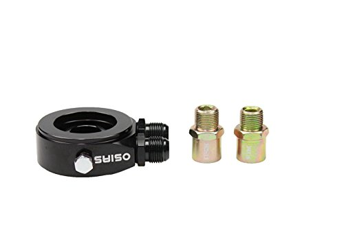 OSIAS M20 x 1.5 Oil Filter Sandwich Plate Adapter 1/8 NPT Oil Cooler Kit BLACK
