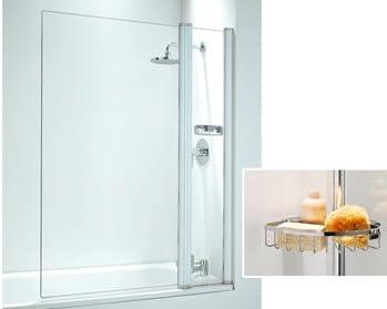 CORAM sin Marco mampara de baño rectangular y PANEL 1050 mm blanco/plain de cristal: Amazon.es: Hogar
