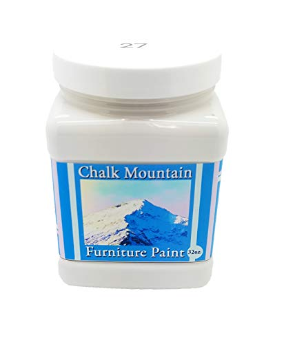 Chalk Mountain Supply Quality Chalk Furniture Paint- NON TOXIC-SAFE TO USE INDOORS- Superior Coverage-LOW ODOR & ZERO VOC (32oz) #27