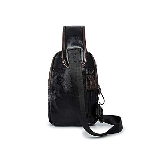 Sports Hommes Sac Bandoulière Air Pu noir Pour En Mode Multifonction Plein Dos De À Cuir Épaule Shanzwh p4qwq