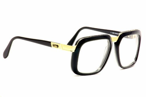 Cazal 616 Eyeglasses 001 Black/Gold Clear Lens 56 mm