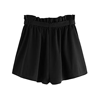 Romwe Women's Casual Elastic Waist Summer Shorts Jersey Walking Shorts | Amazon.com
