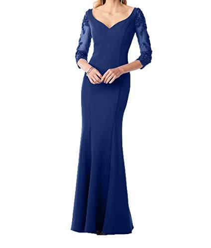 Dunkel Kleider Figurbetont Damen Elegant Blau Etuikleider Standsamt  Charmant Brautmutterkleider Festlichkleider Abendkleider Royal Yz1wn6 ... 4a7e269a68