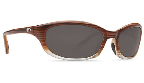 Costa Del Mar Sunglasses - Harpoon- Glass / Frame: Wood Fade Lens: Polarized Gray Wave 580 Glass (Lens Glass 580 Wave)