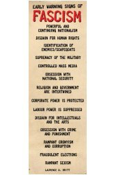 Early Signs Of Fascism >> Pyramid Early Warning Signs Of Fascism Poster Poster 91 5x30 5cm