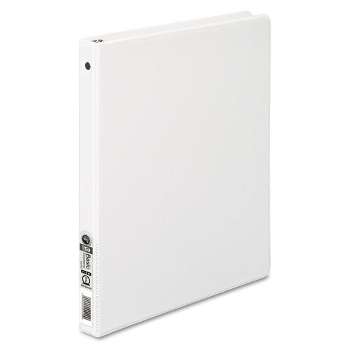 Wilson Jones 3 Ring Binder 1/2 Inch, Round Ring View Binder, Letter Size, Basic, 362 Series, Customizable, White (W362-13WV)